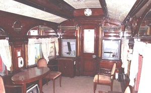 The observation lounge of Special Car 445